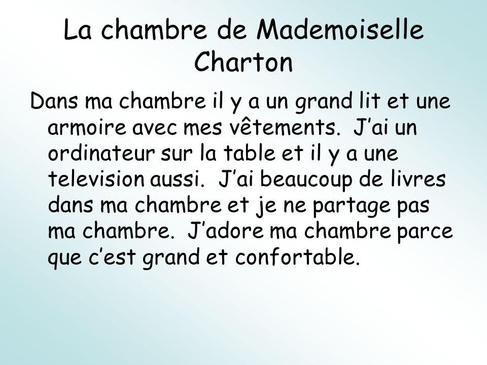 La chambre de Mademoiselle Charton