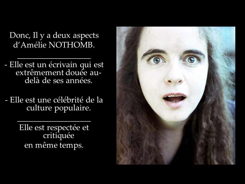 - Elle est une célébrité de la culture populaire.