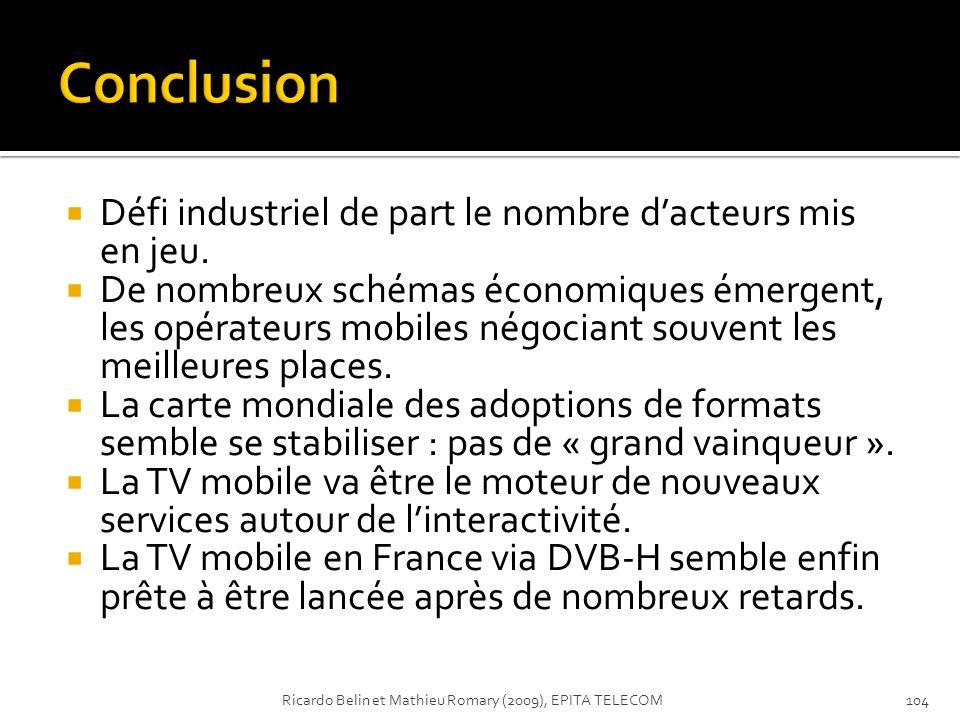 Conclusion Défi industriel de part le nombre d'acteurs mis en jeu.
