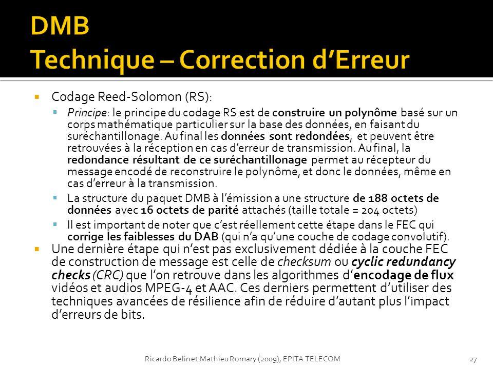 DMB Technique – Correction d'Erreur