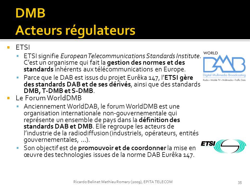 DMB Acteurs régulateurs