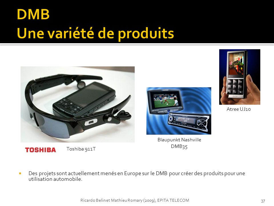 DMB Une variété de produits