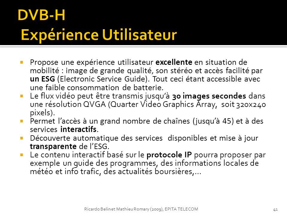 DVB-H Expérience Utilisateur