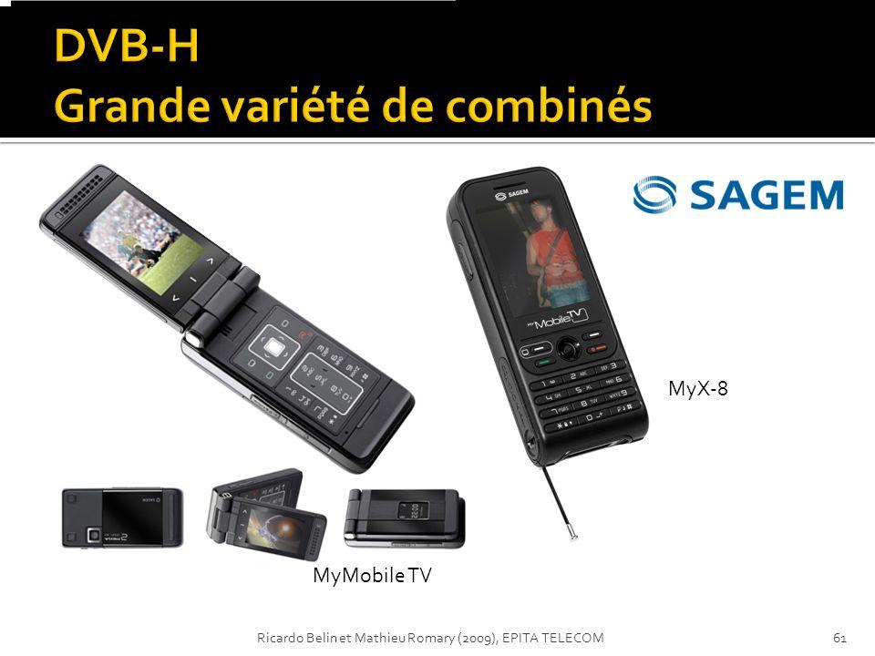 DVB-H Grande variété de combinés