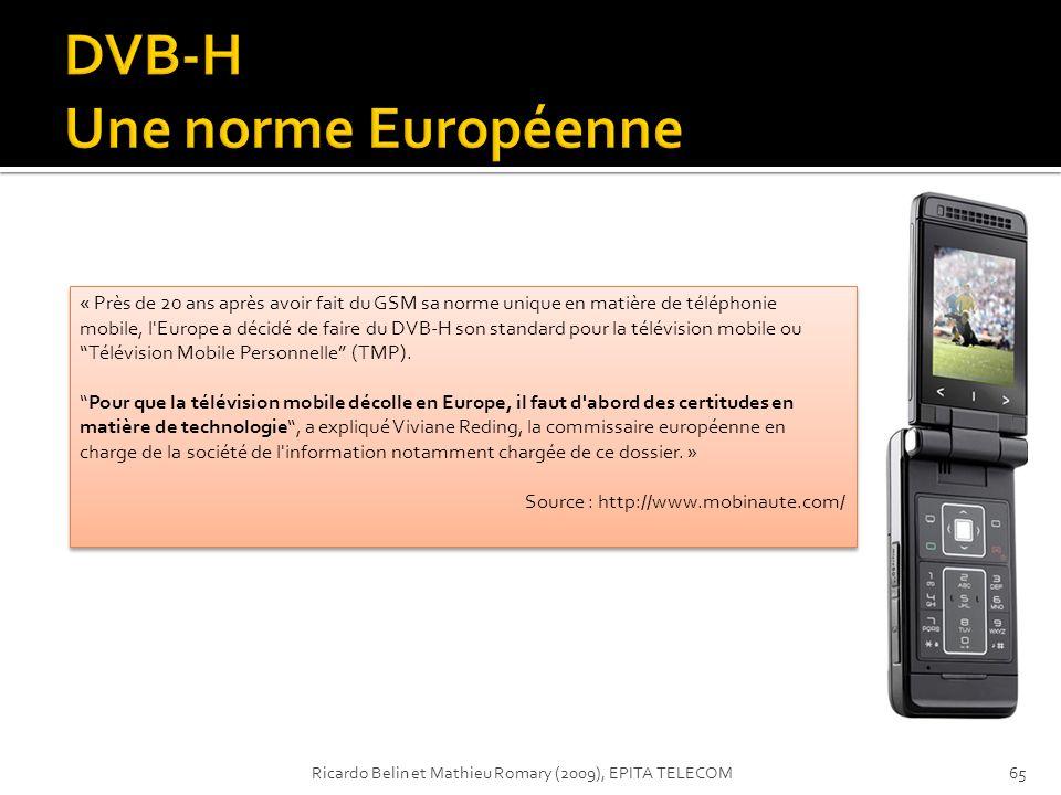 DVB-H Une norme Européenne