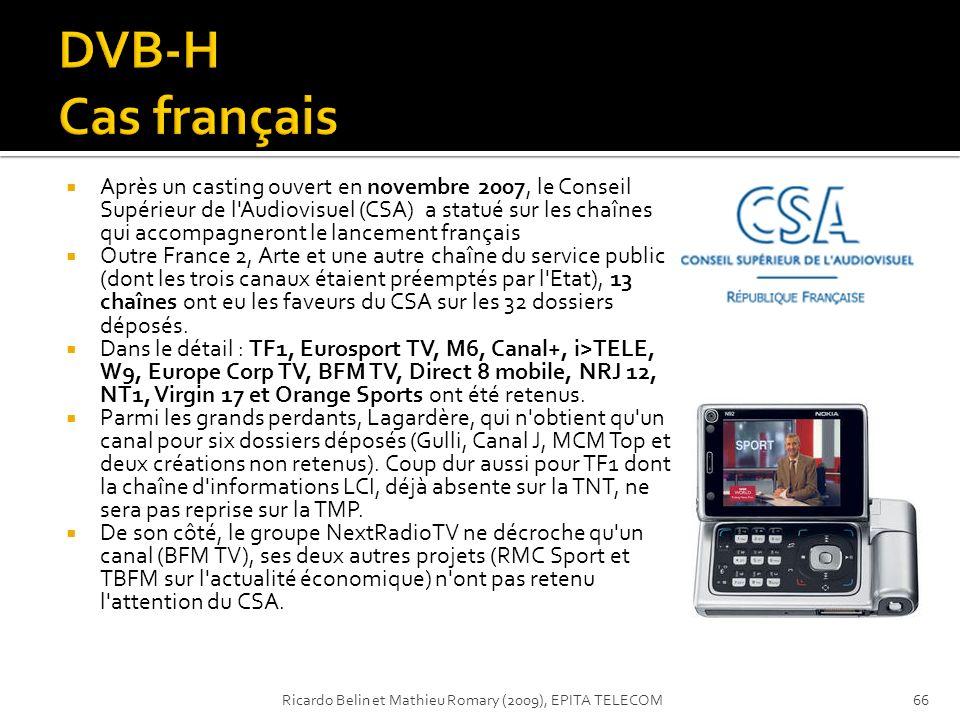 DVB-H Cas français