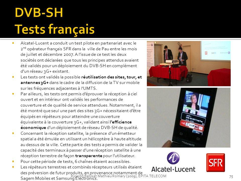 DVB-SH Tests français
