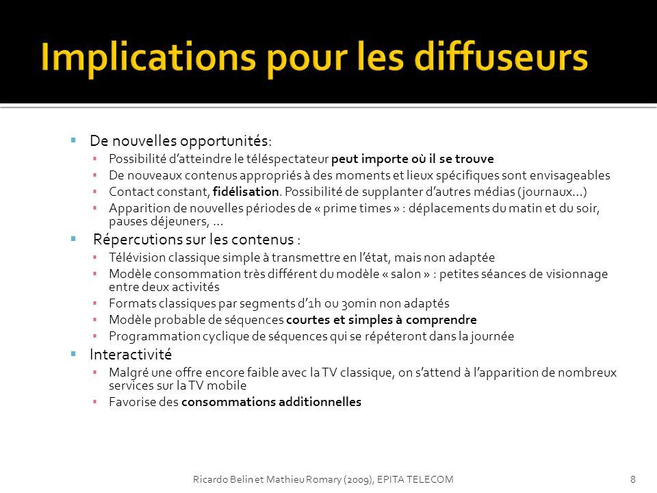 Implications pour les diffuseurs