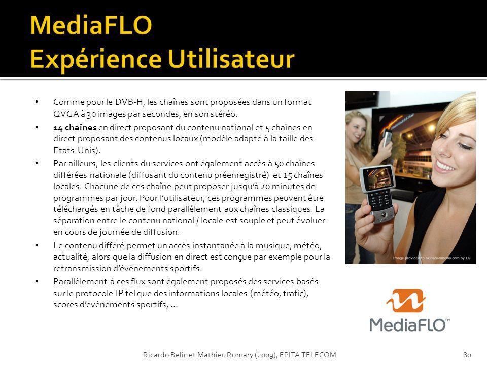 MediaFLO Expérience Utilisateur