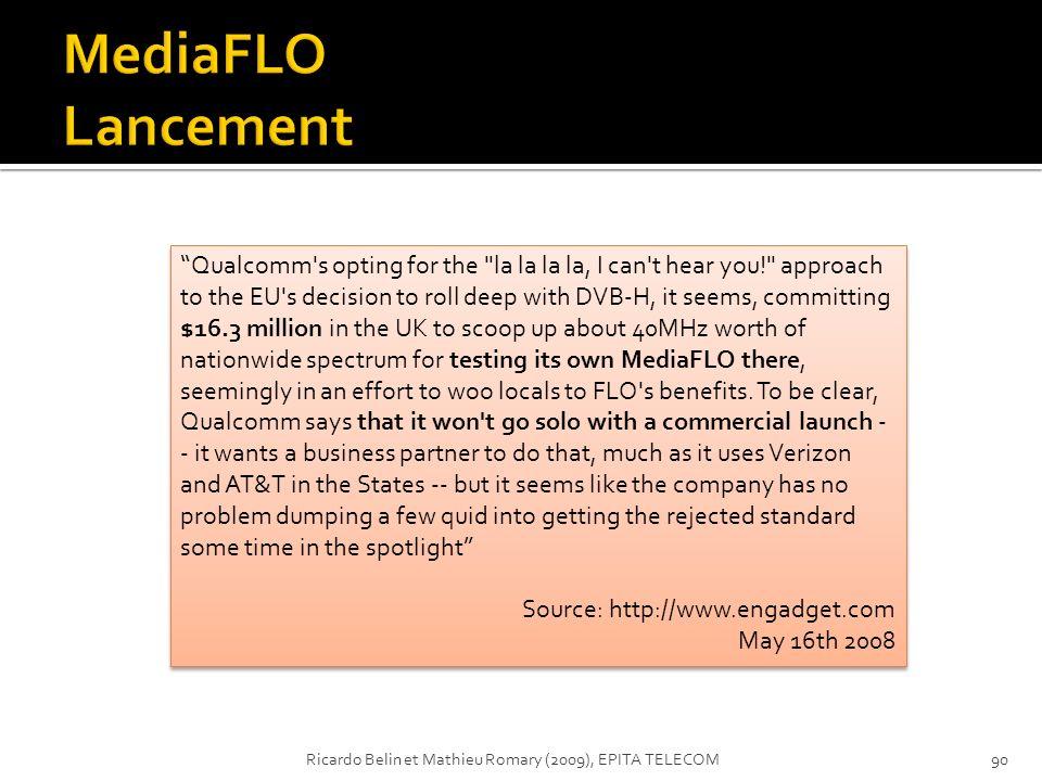 MediaFLO Lancement