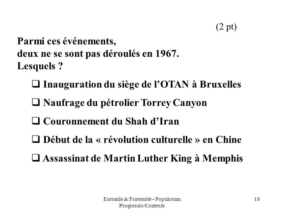 Entraide & Fraternité - Populorum Progressio/Contexte