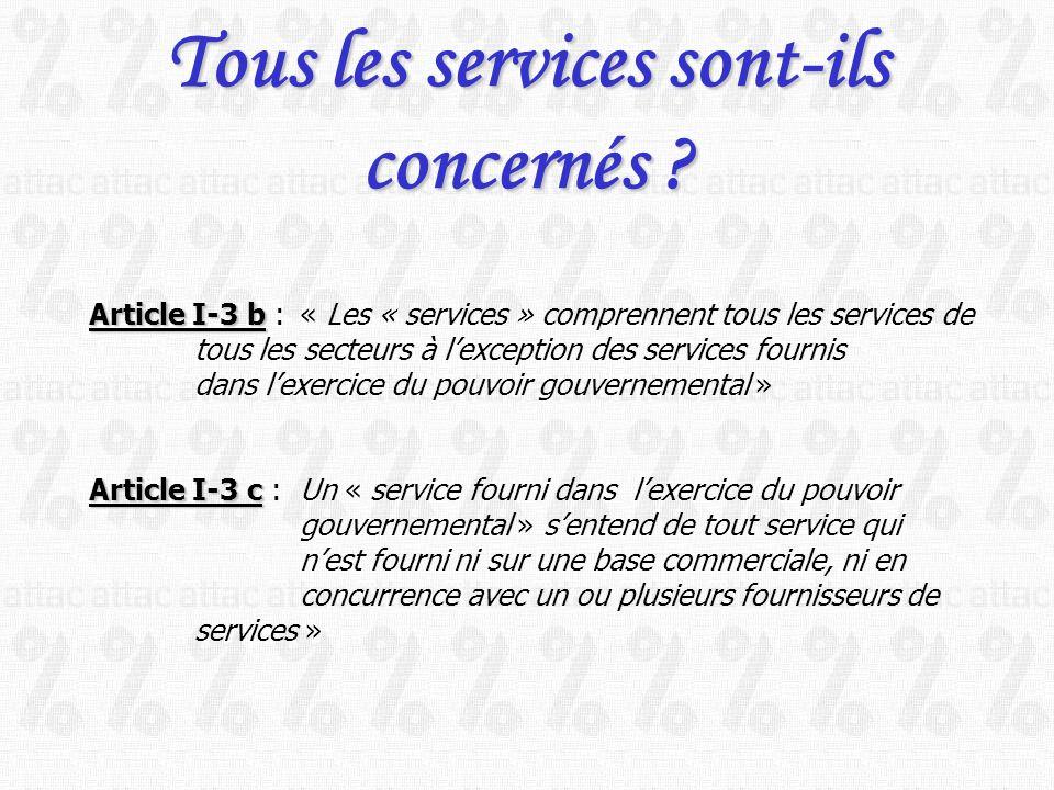 Tous les services sont-ils concernés