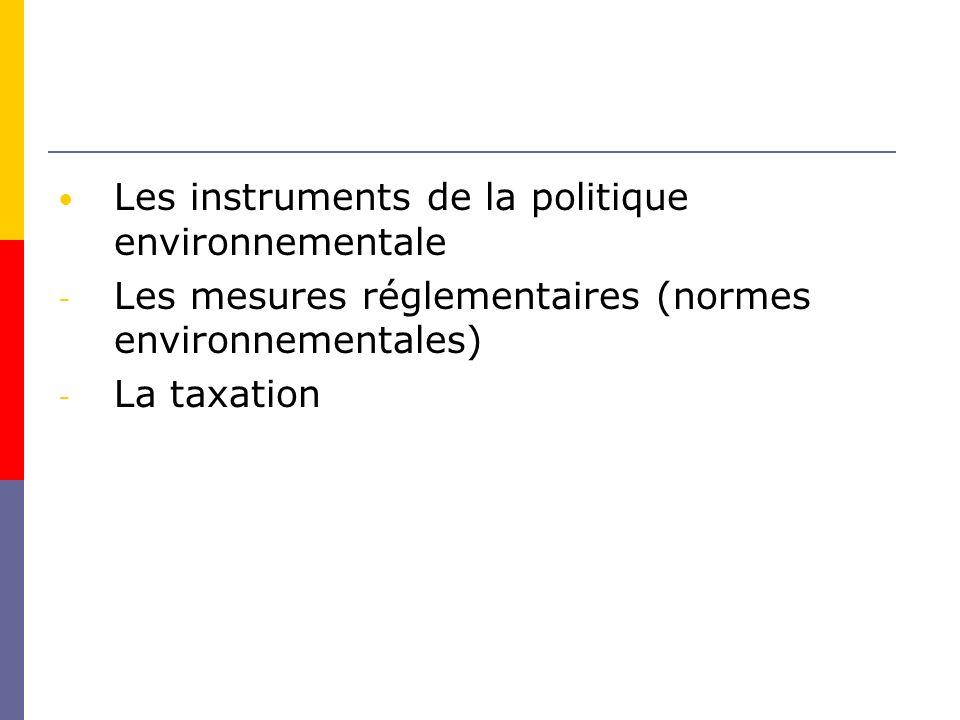 Les instruments de la politique environnementale