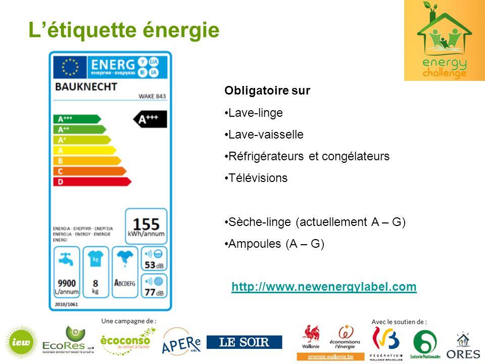L'étiquette énergie Obligatoire sur Lave-linge Lave-vaisselle