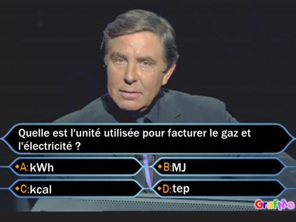 Conversions : 1 tep = 11630 kWh 1 kWh = 3,6 MJ. 1 MJ = 4,18 Mcal. L'énergie = la puissance x le temps.