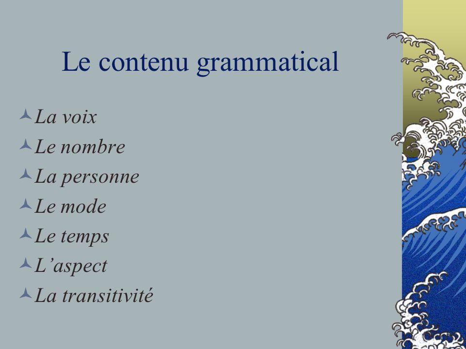 Le contenu grammatical