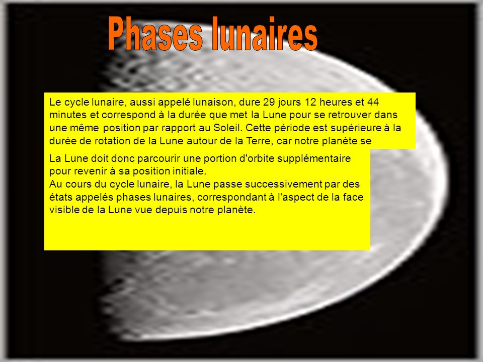 Phases lunaires