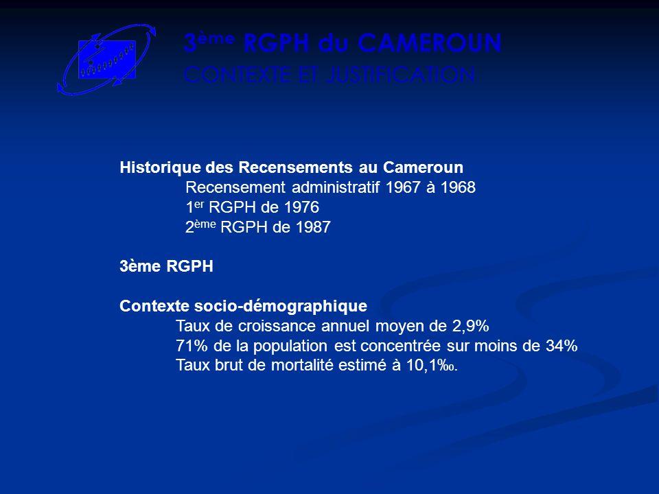 3ème RGPH du CAMEROUN CONTEXTE ET JUSTIFICATION