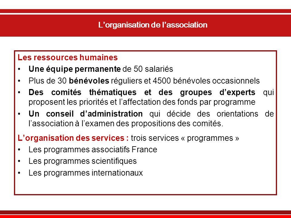 L'organisation de l'association