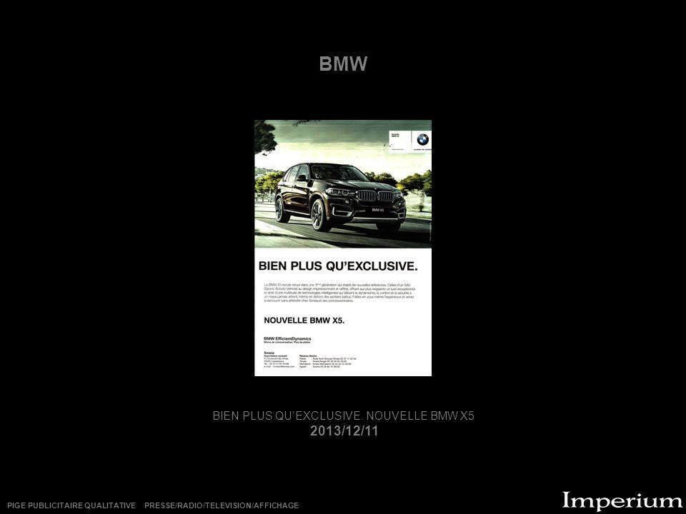 BIEN PLUS QU'EXCLUSIVE. NOUVELLE BMW X5