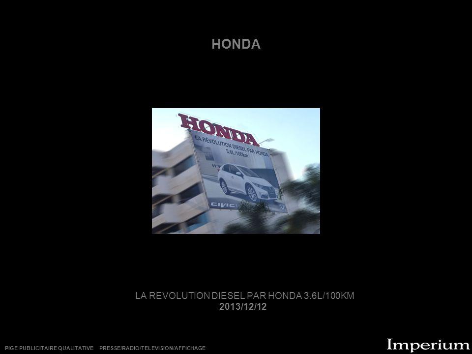 LA REVOLUTION DIESEL PAR HONDA 3.6L/100KM