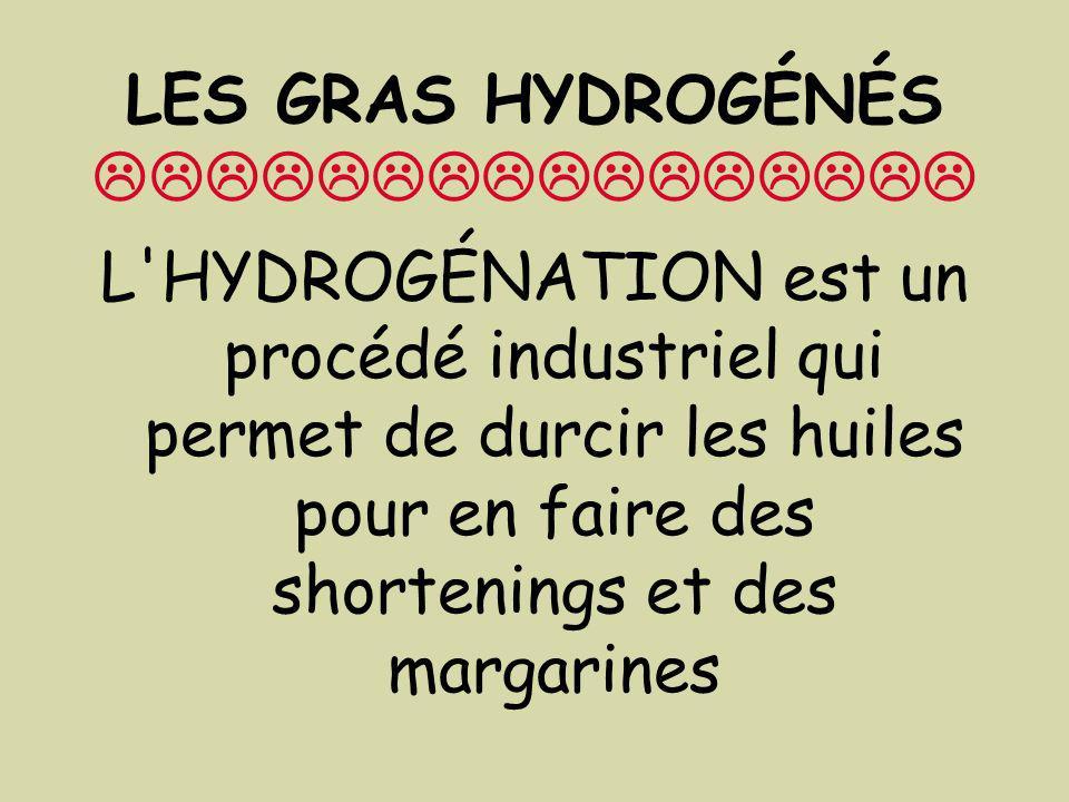 LES GRAS HYDROGÉNÉS 