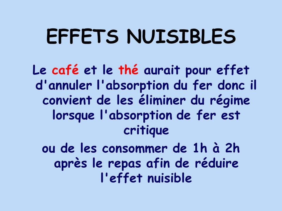 EFFETS NUISIBLES