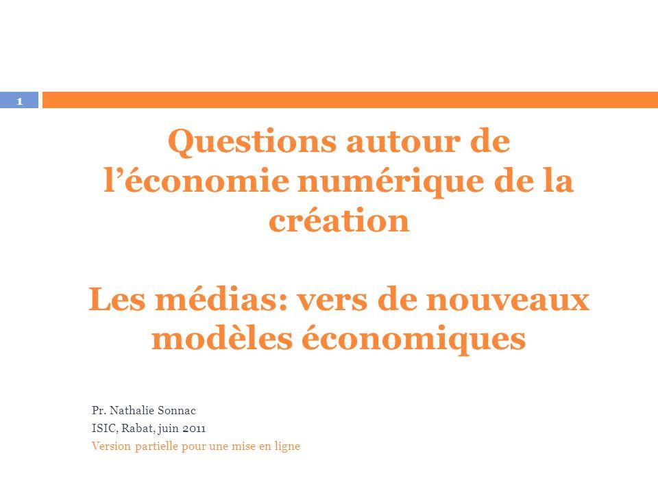 Economie des industries créatives à l'ère numérique