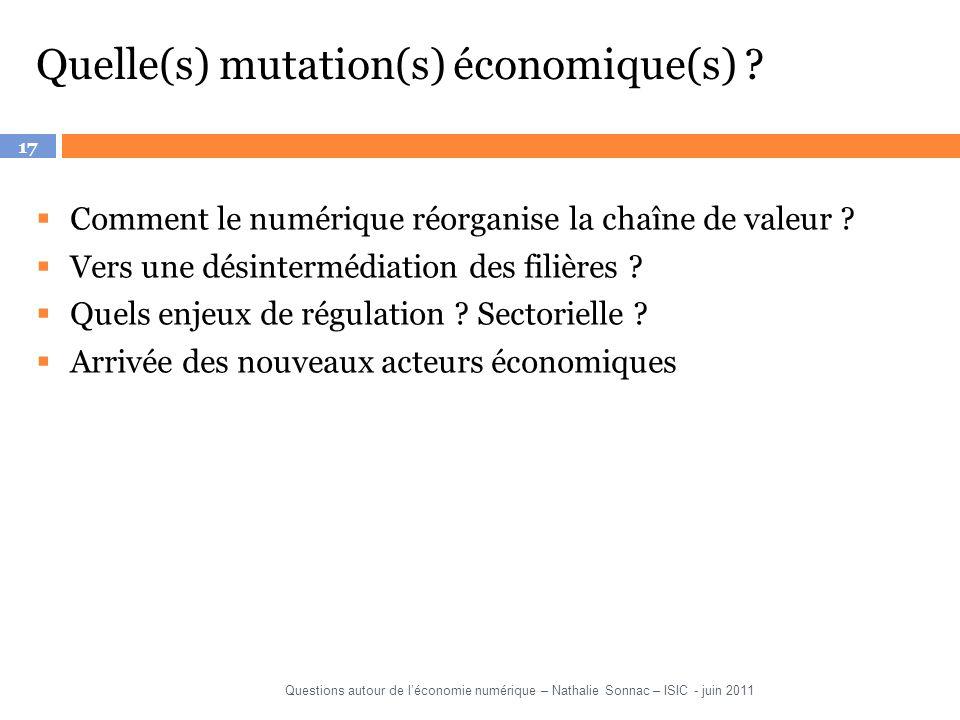 Quelle(s) mutation(s) économique(s)