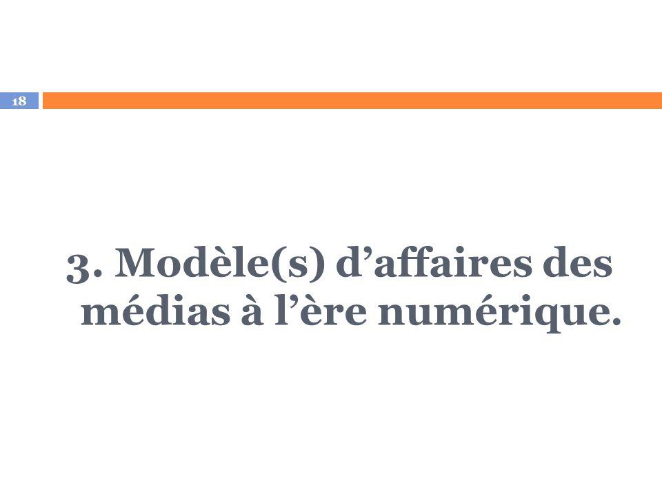 3. Modèle(s) d'affaires des médias à l'ère numérique.
