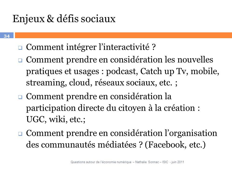 Enjeux & défis sociaux Comment intégrer l'interactivité