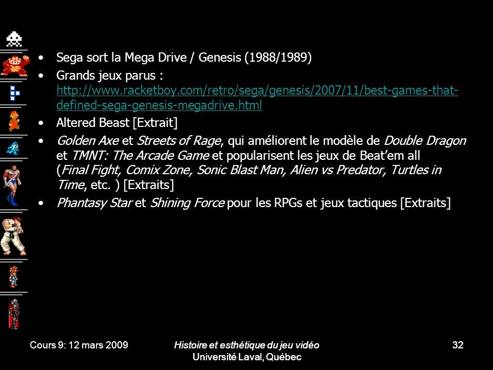 Sega sort la Mega Drive / Genesis (1988/1989)