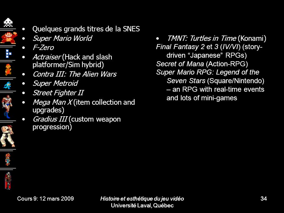 Quelques grands titres de la SNES Super Mario World F-Zero
