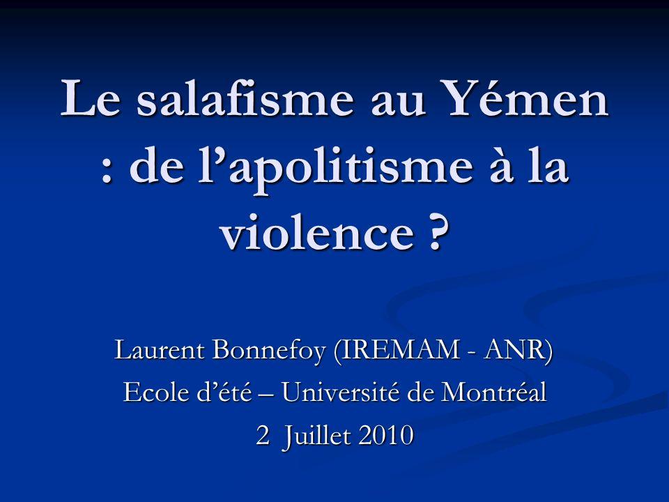 Le salafisme au Yémen : de l'apolitisme à la violence