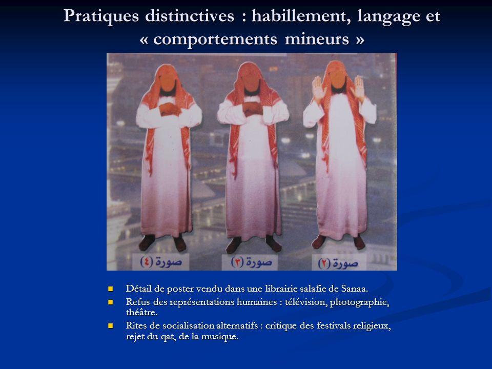Pratiques distinctives : habillement, langage et « comportements mineurs »