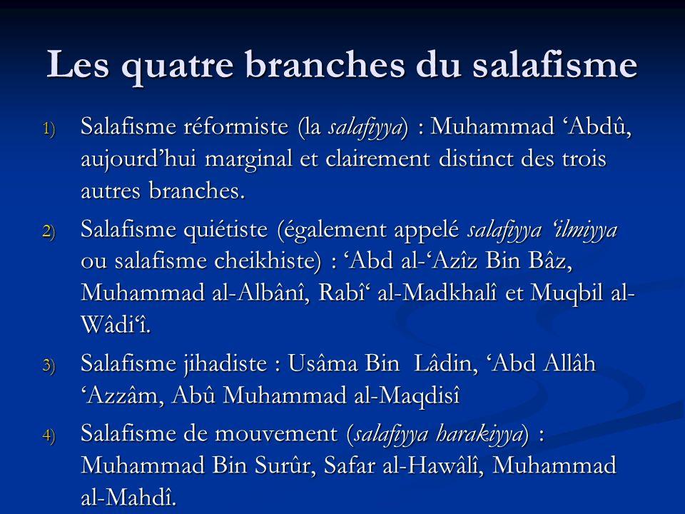 Les quatre branches du salafisme