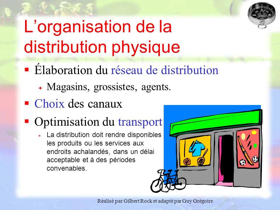 L'organisation de la distribution physique