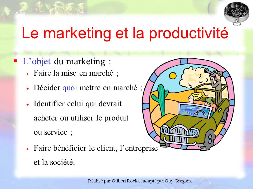 Le marketing et la productivité