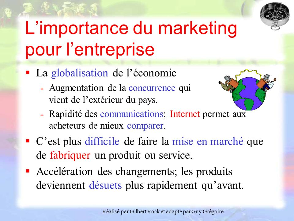 L'importance du marketing pour l'entreprise