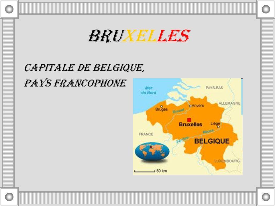 BRUXELLES CAPITALE DE BELGIQUE, PAYS FRANCOPHONE