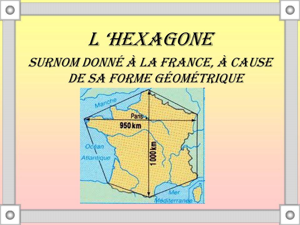 SURNOM DONNÉ À LA FRANCE, À CAUSE DE SA FORME GÉOMÉTRIQUE