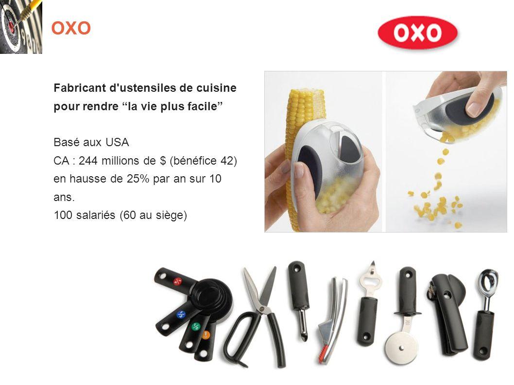 OXO Fabricant d ustensiles de cuisine pour rendre la vie plus facile