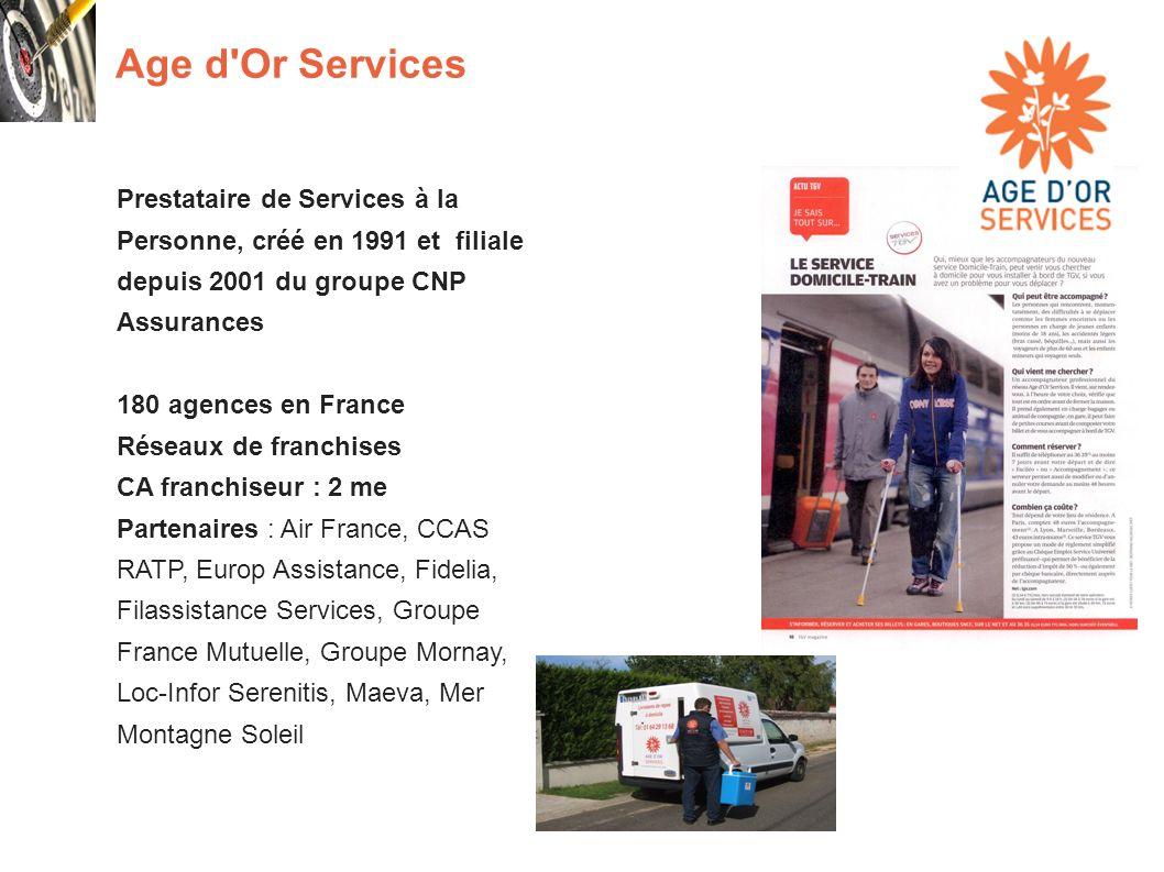 Age d Or Services Prestataire de Services à la Personne, créé en 1991 et filiale depuis 2001 du groupe CNP Assurances.
