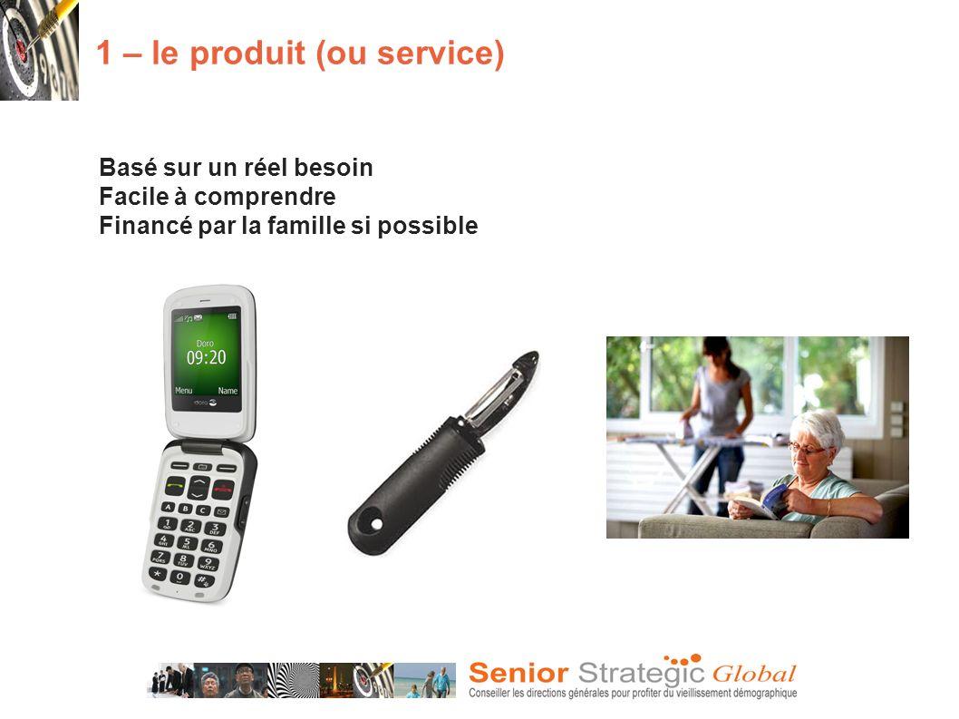 1 – le produit (ou service)