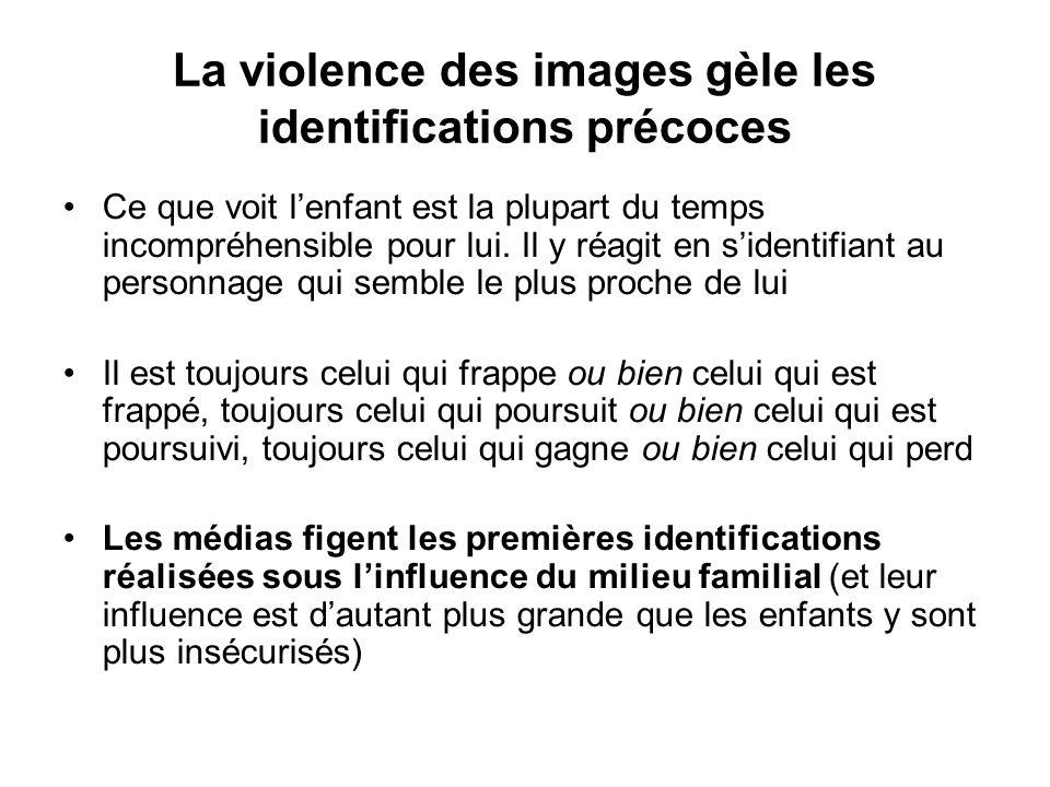 La violence des images gèle les identifications précoces