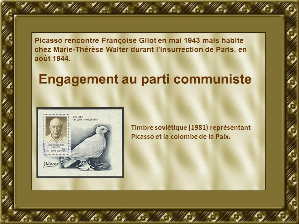 Engagement au parti communiste