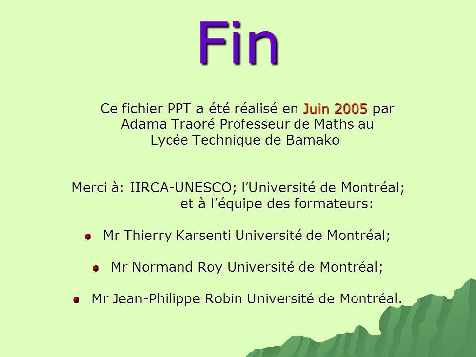 Fin Adama Traoré Professeur de Maths au Lycée Technique de Bamako