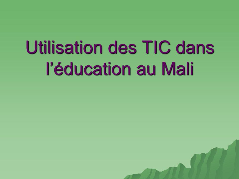 Utilisation des TIC dans l'éducation au Mali