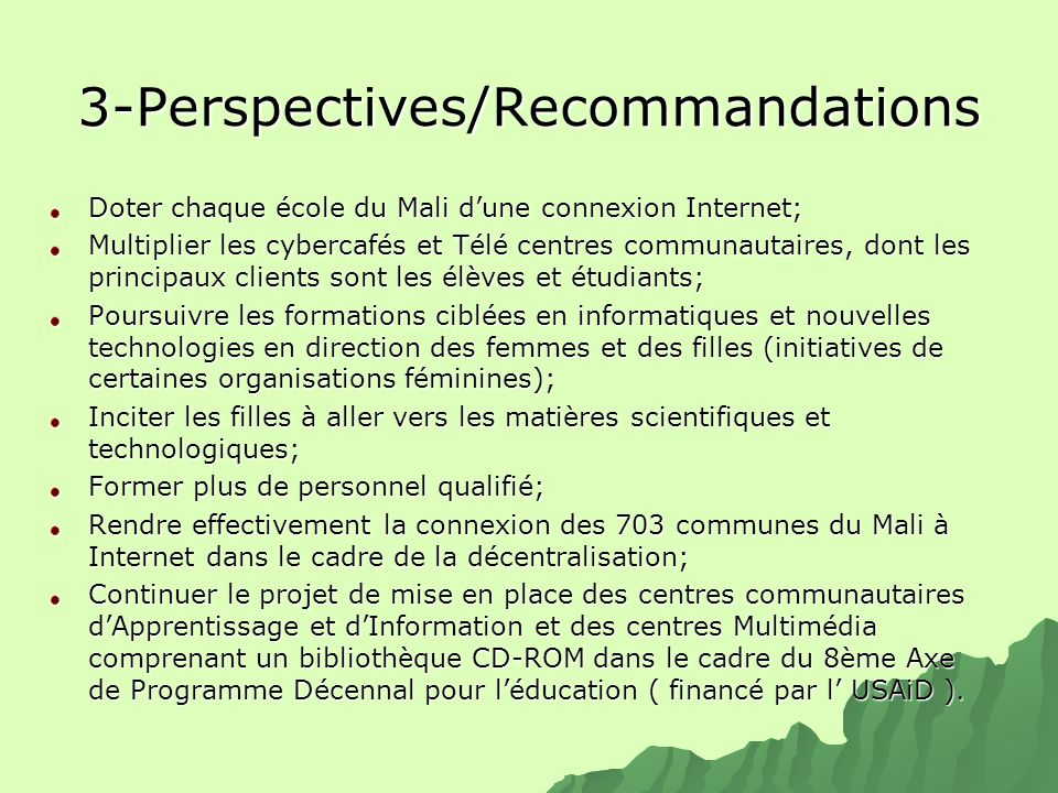 3-Perspectives/Recommandations