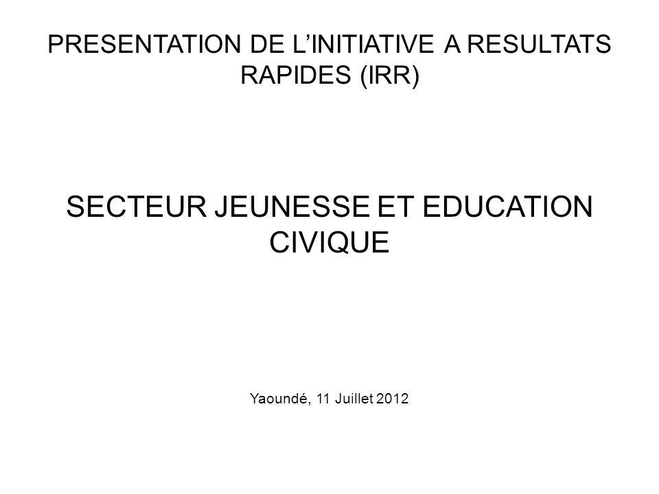 SECTEUR JEUNESSE ET EDUCATION CIVIQUE